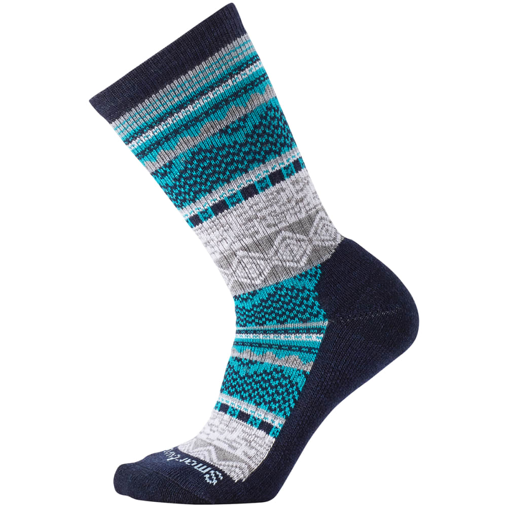 SMARTWOOL Women's Dazzling Wonderland Crew Socks - DEEP NAVY HEATH 108