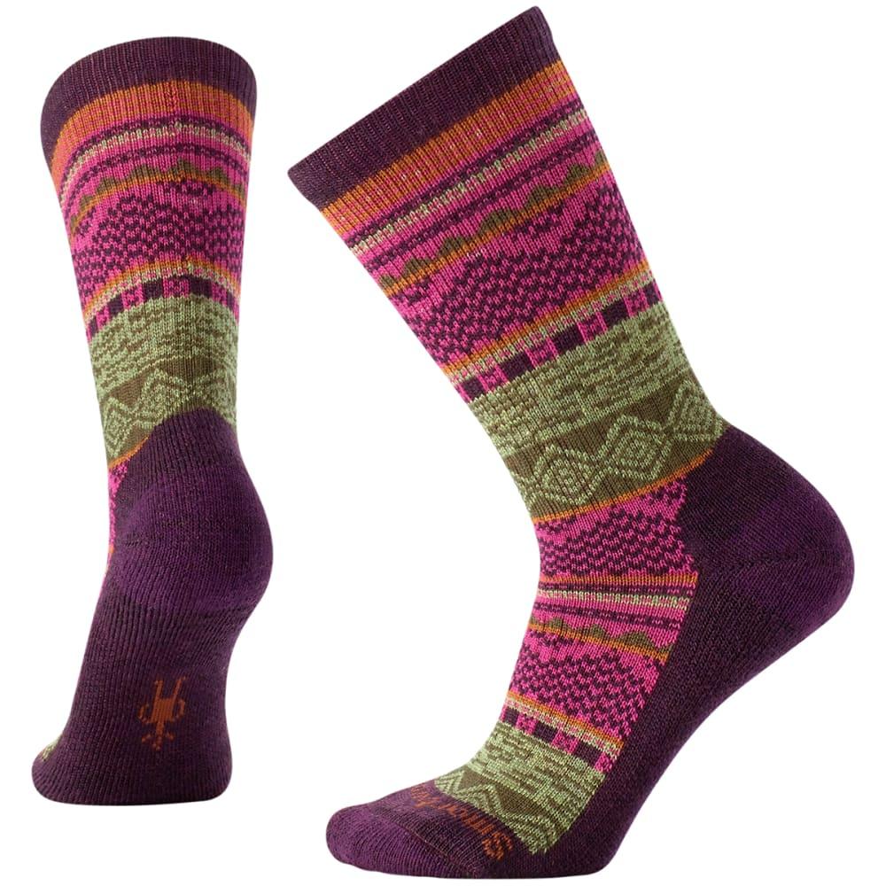 SMARTWOOL Women's Dazzling Wonderland Crew Socks - BORDEAUX HEAT 587