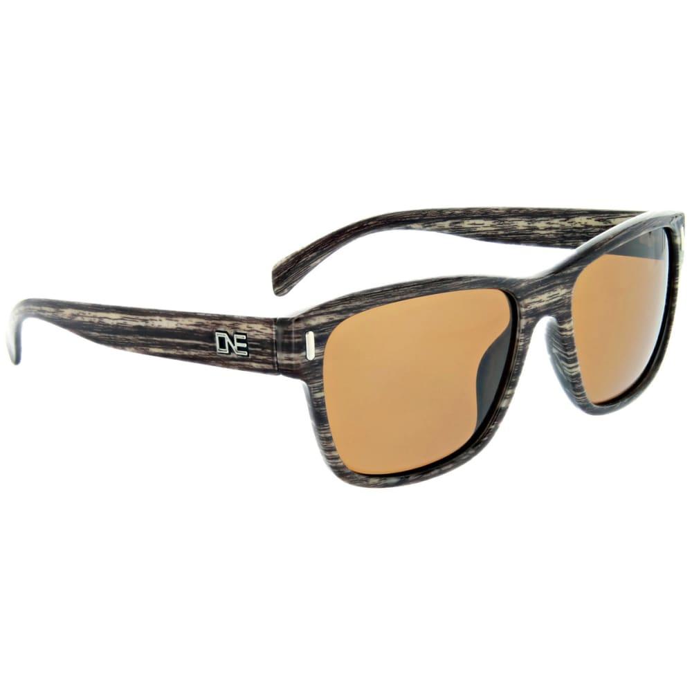 ONE BY OPTIC NERVE Kingston Polarized Sunglasses, Shiny Driftwood NO SIZE