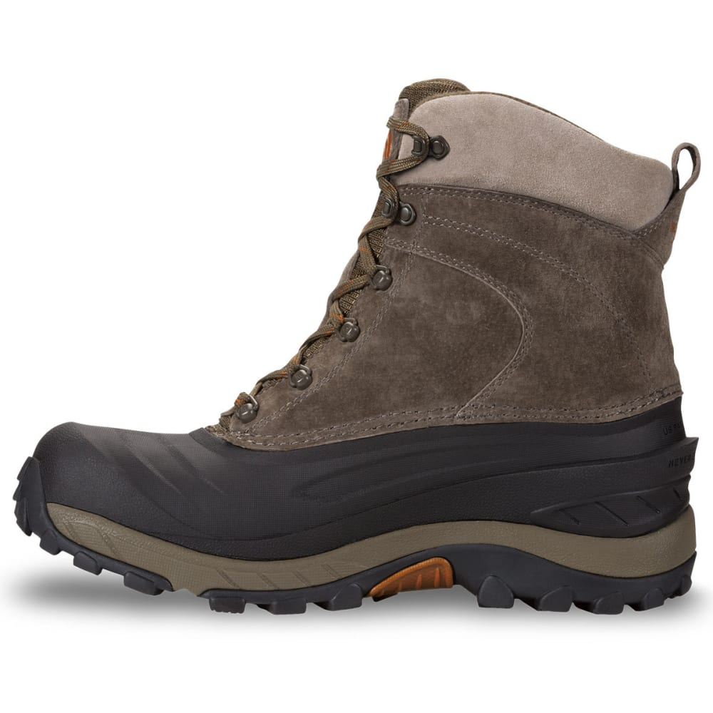 THE NORTH FACE Men's Chilkat III Lace-Up Mid Waterproof Winter Boots, Mudpack Brown/Bombay Orange - YVA MUDPACK BRN/ORG