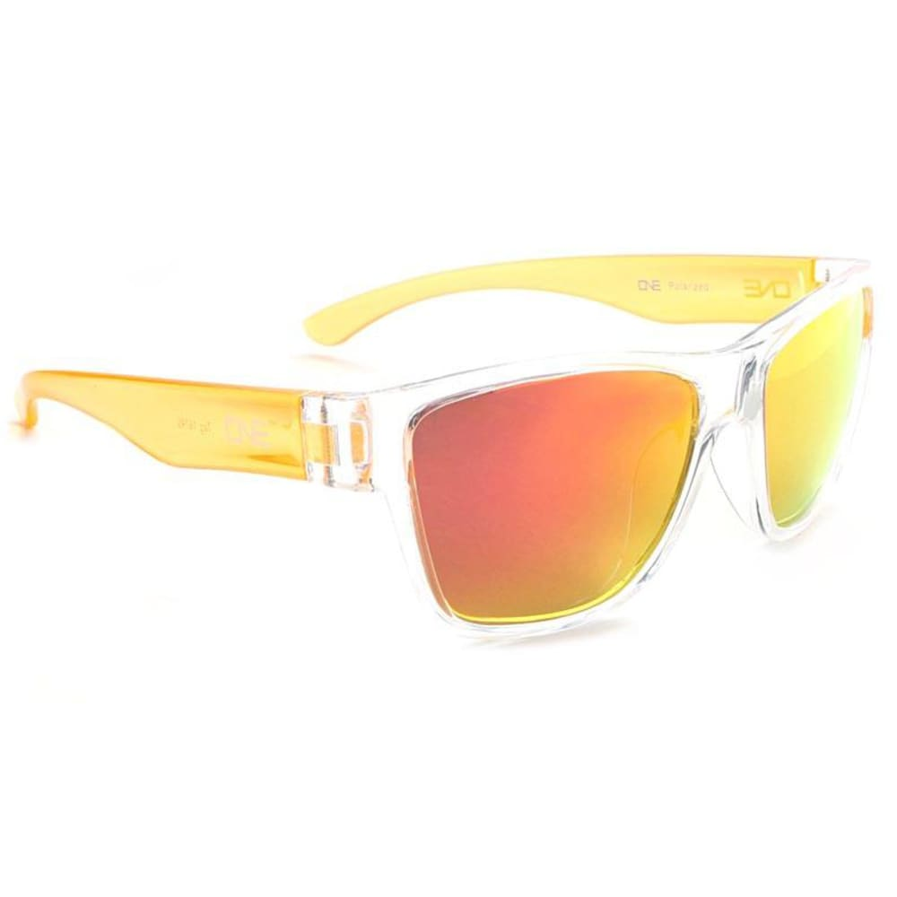 ONE BY OPTIC NERVE Kids' Tag Polarized Sunglasses - CRYSTAL CLEAR/ORANGE