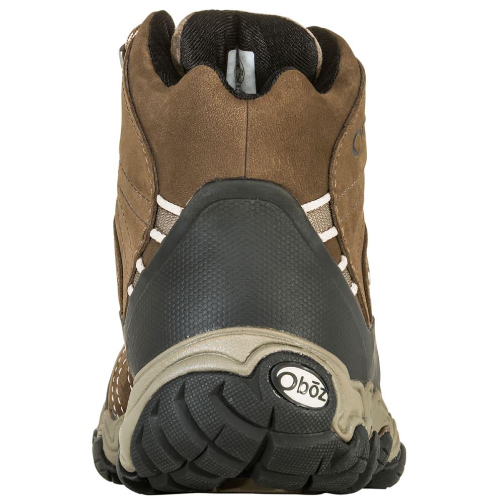 OBOZ Women's Bridger B-Dry Waterproof Mid Hiking Boots, Walnut, Wide - WALNUT