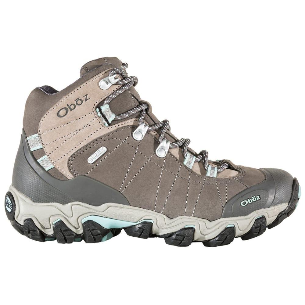 601403216a7 OBOZ Women's Bridger Mid BDry Waterproof Hiking Boots, Cool Grey