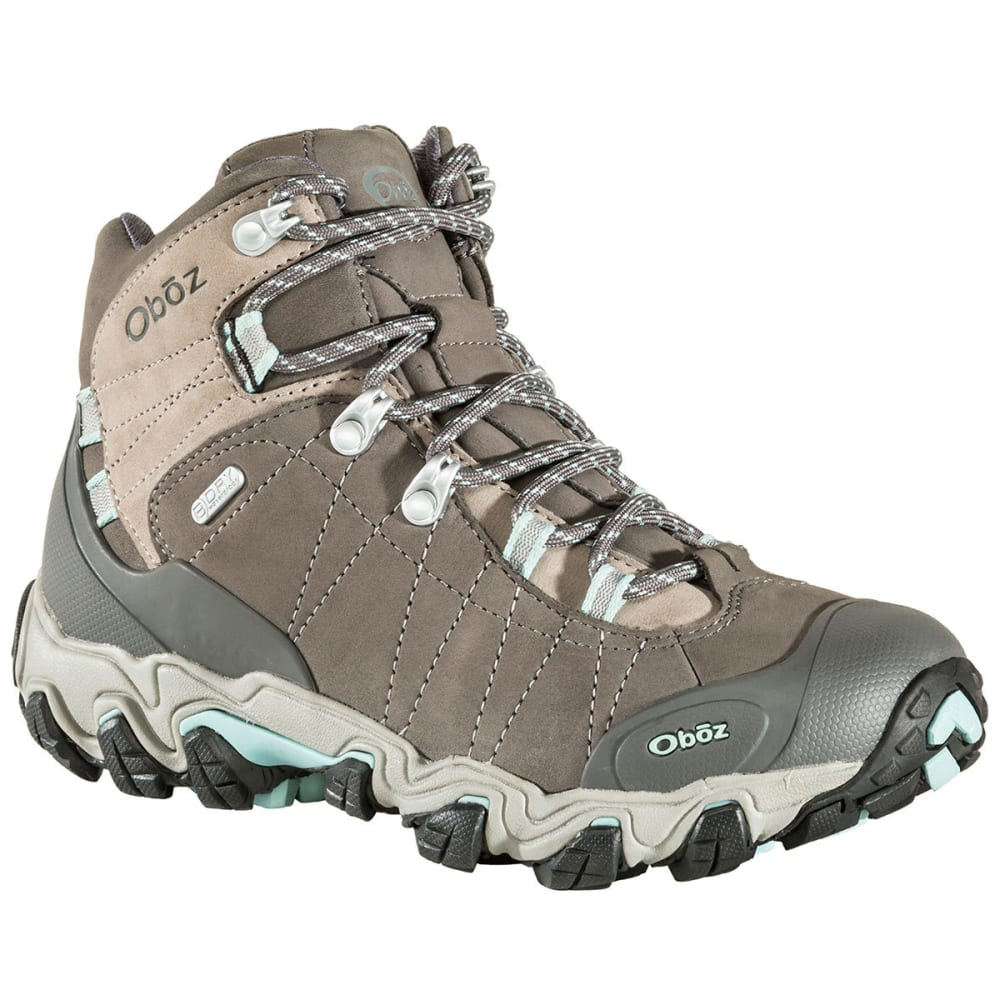 OBOZ Women's Bridger Mid BDry Waterproof Hiking Boots, Cool Grey 7.5