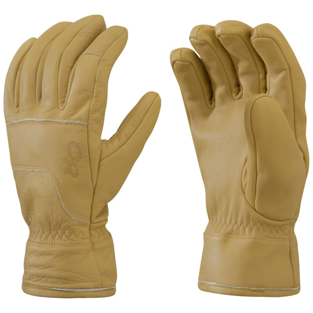 OUTDOOR RESEARCH Aksel Work Gloves, Natural M