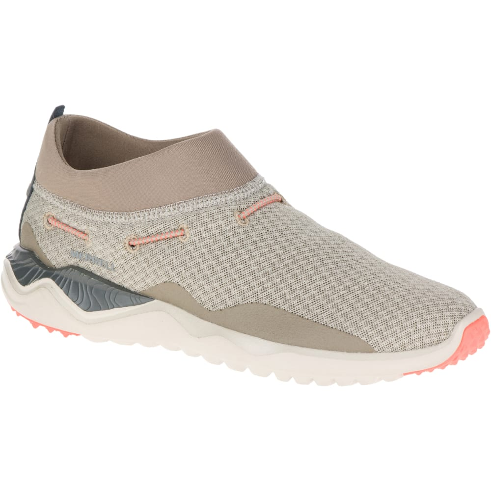 MERRELL Women's 1SIX8 Mesh Moc Casual Shoes, Aluminum - ALUMINUM