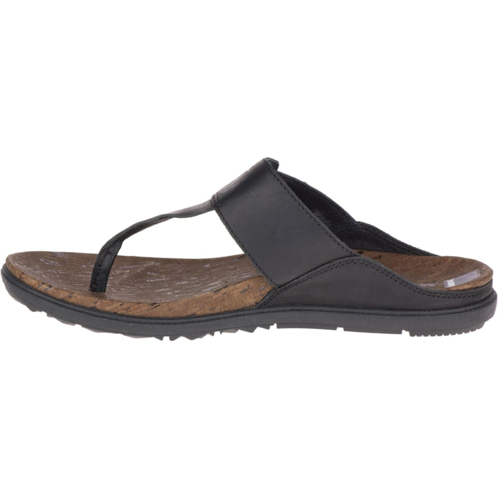 MERRELL Women's Around Town Post Sandals, Black - BLACK