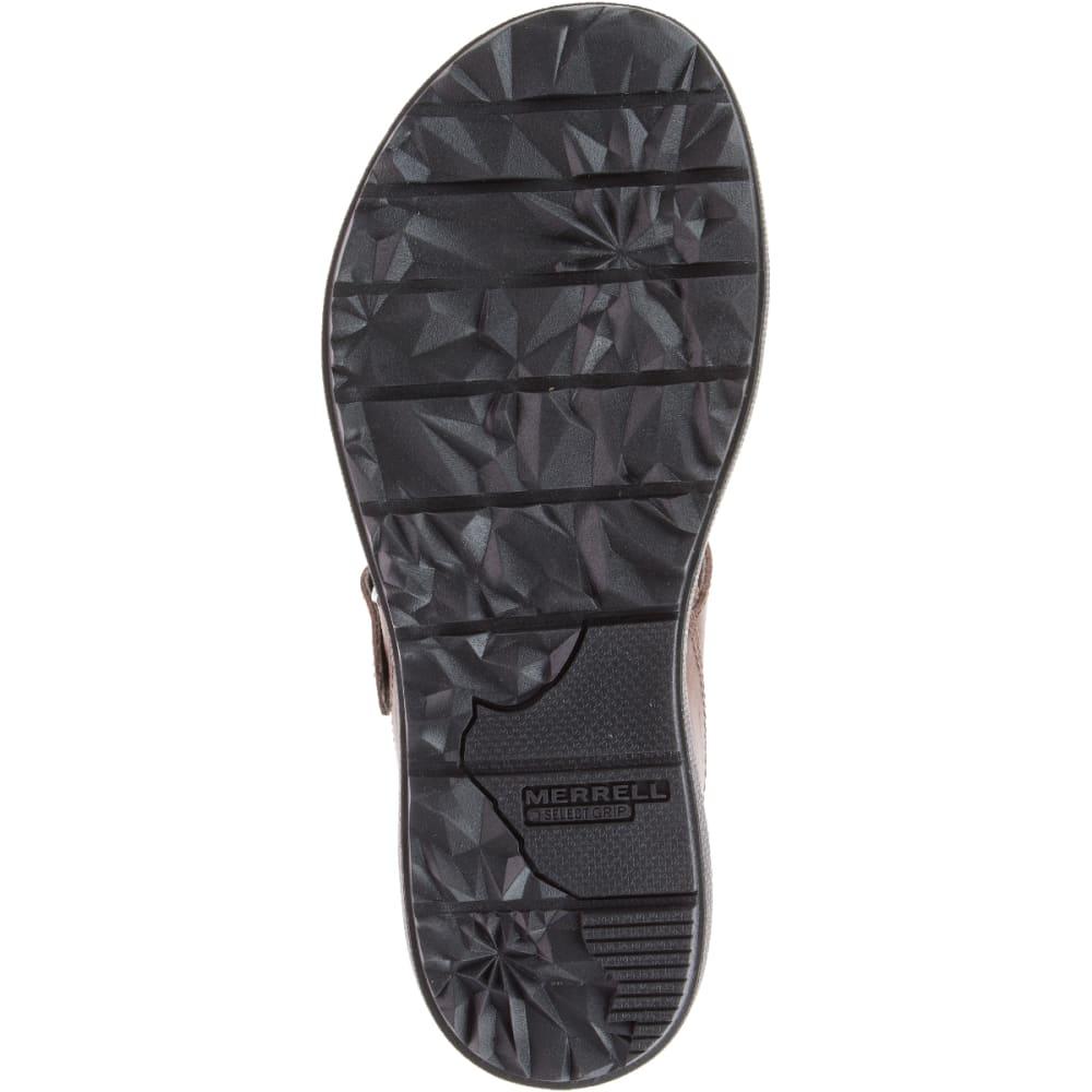 MERRELL Women's Around Town Post Sandals,Brown - BROWN