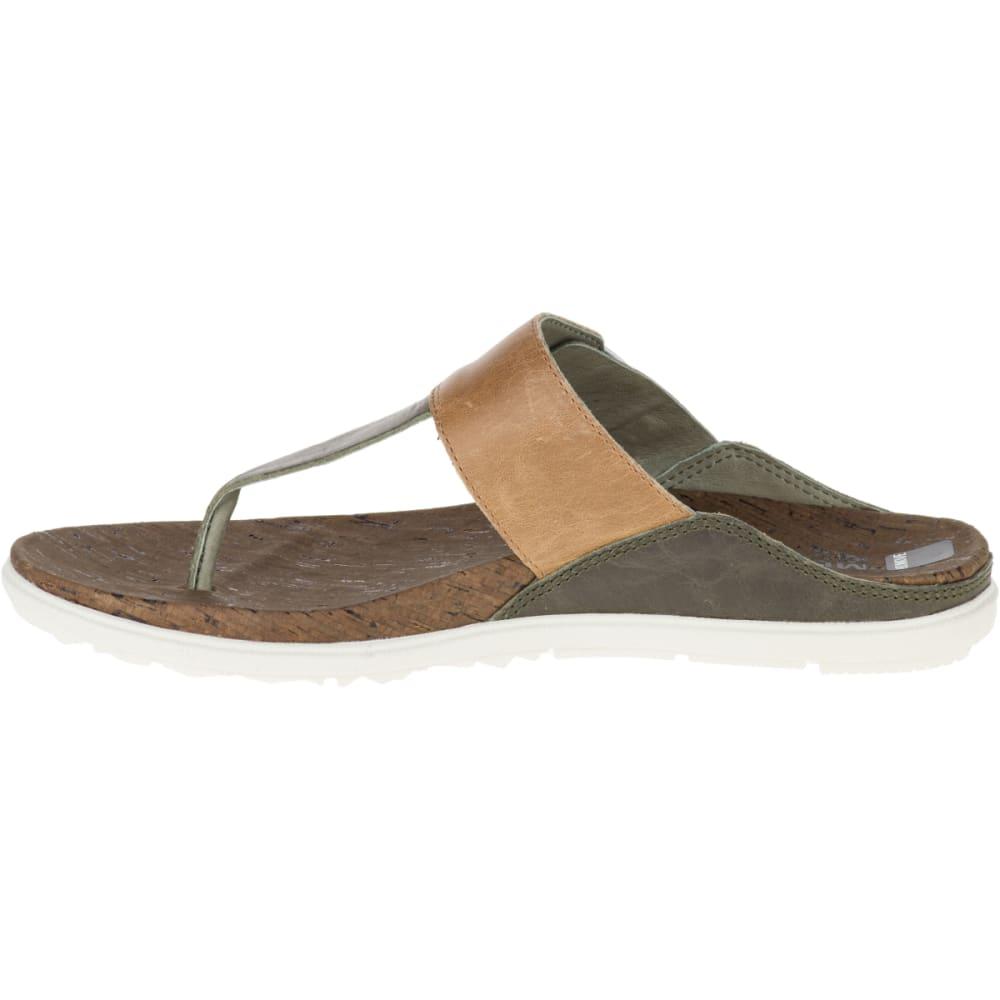 MERRELL Women's Around Town Post Sandals, Vertiver - VERTIVER