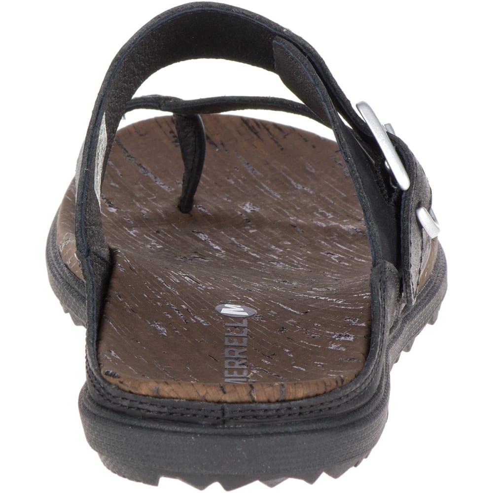 MERRELL Women's Around Town Thong Buckle Sandals, Black - BLACK