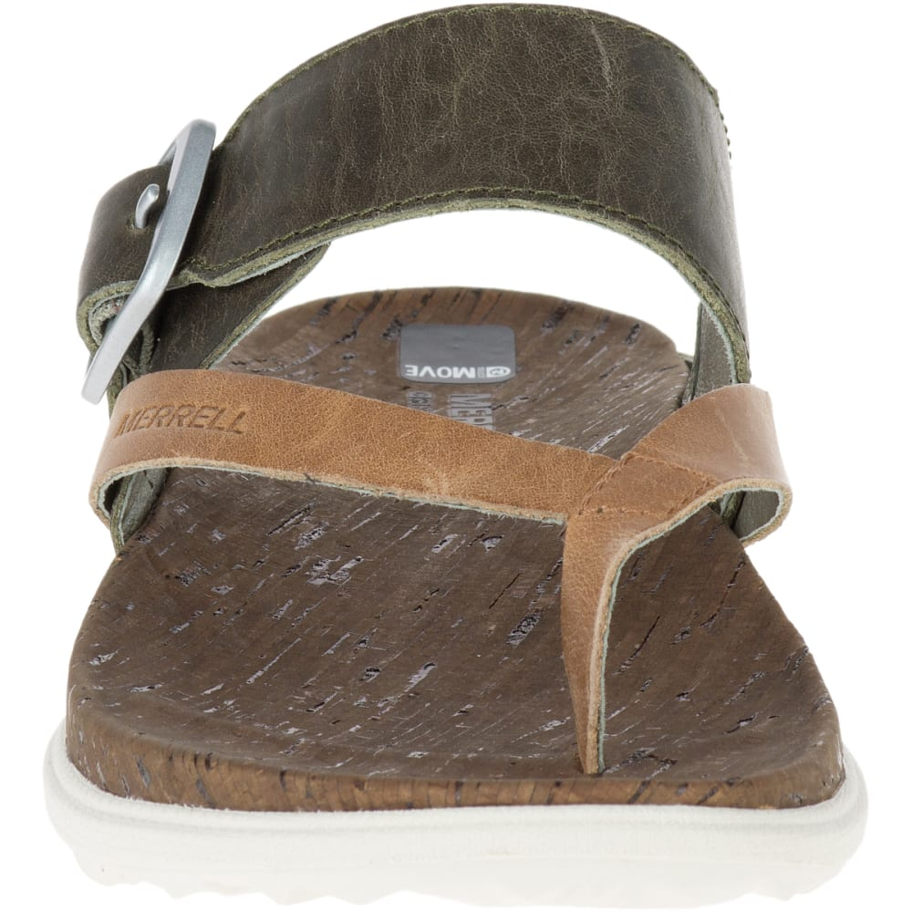 MERRELL Women's Around Town Thong Buckle Sandals, Vertiver - VERTIVER