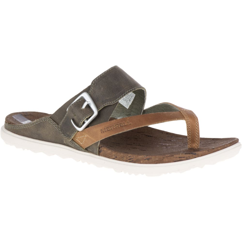 MERRELL Women's Around Town Thong Buckle Sandals, Vertiver - VERTIVER