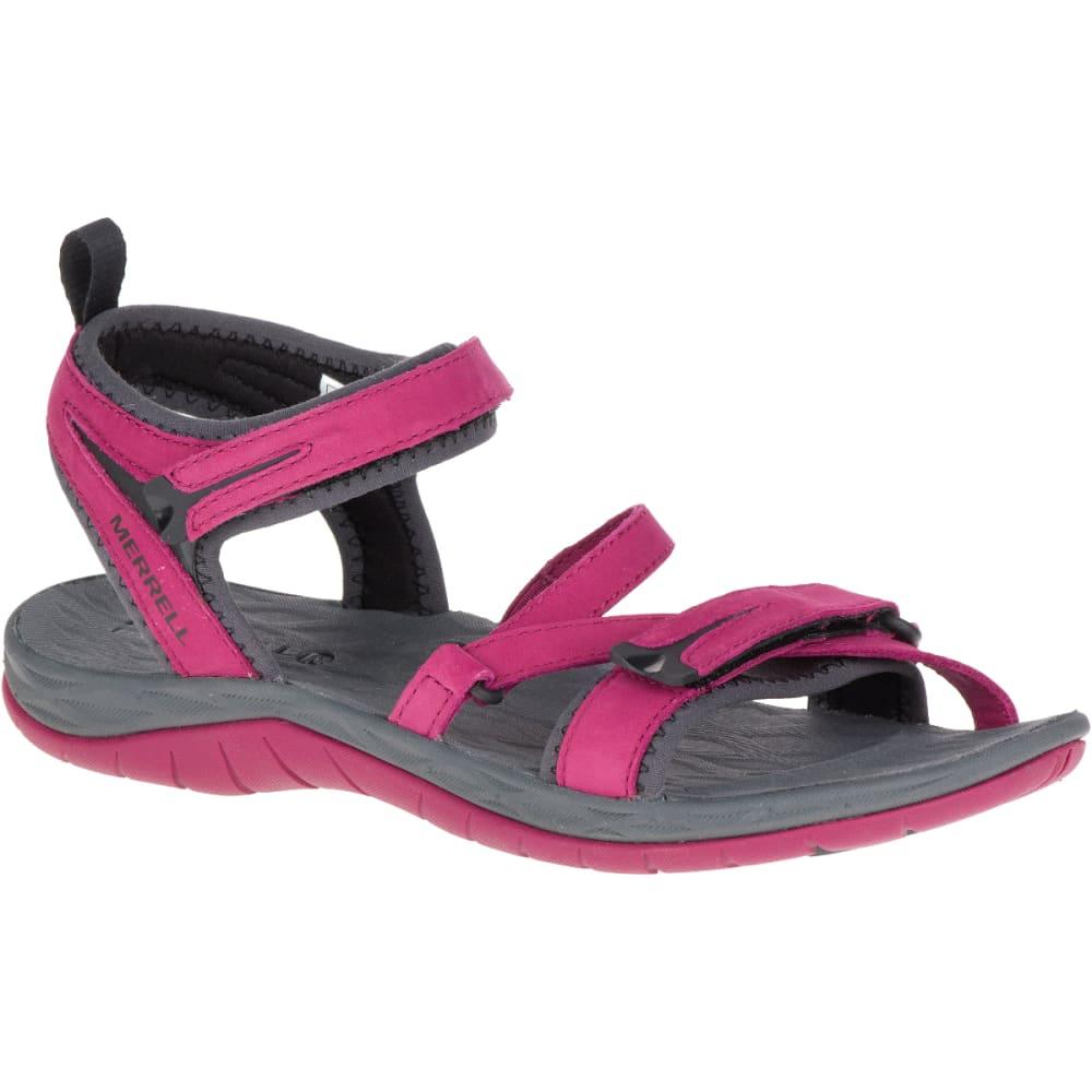 MERRELL Women's Siren Strap Q2 Sandals, Beet Red - BEET RED
