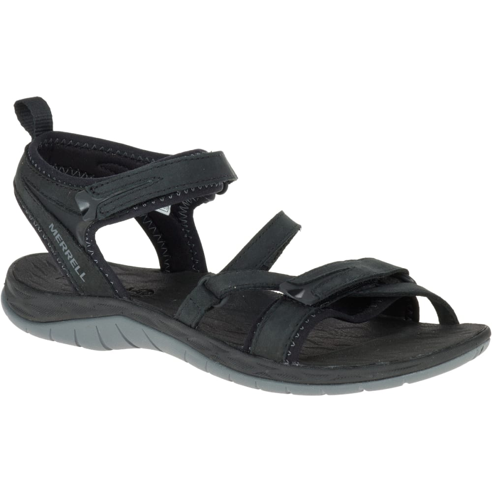 MERRELL Women's Siren Strap Q2 Sandals, Black - BLACK