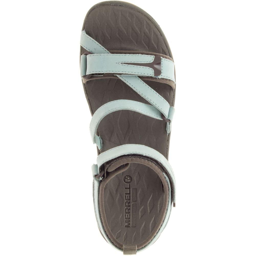 MERRELL Women's Siren Strap Q2 Sandals, Blue Surf - BLUE SURF