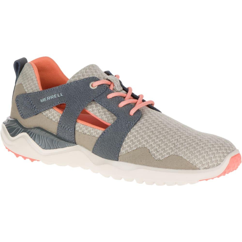 MERRELL Women's 1SIX8 Slice Trail Running Shoes, Aluminum - ALUMINUM