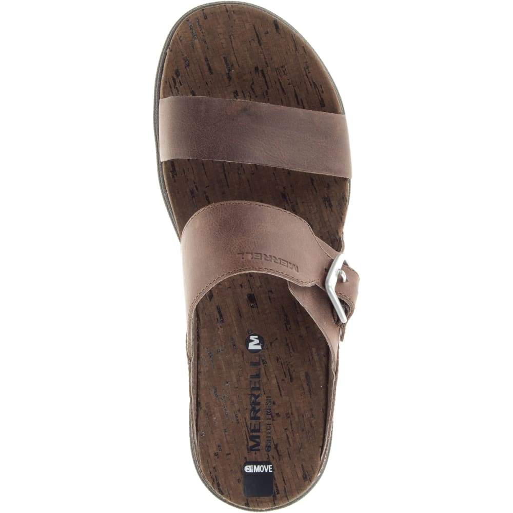 MERRELL Women's Around Town Buckle Slide Sandals, Brown - BROWN