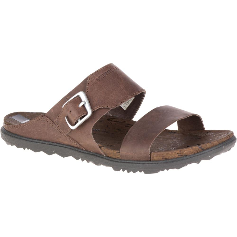 MERRELL Women's Around Town Buckle Slide Sandals, Brown - BROWN