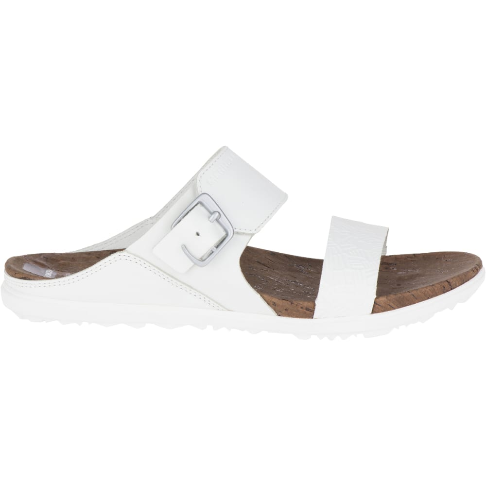 MERRELL Women's Around Town Buckle Slide Sandals, White - WHITE