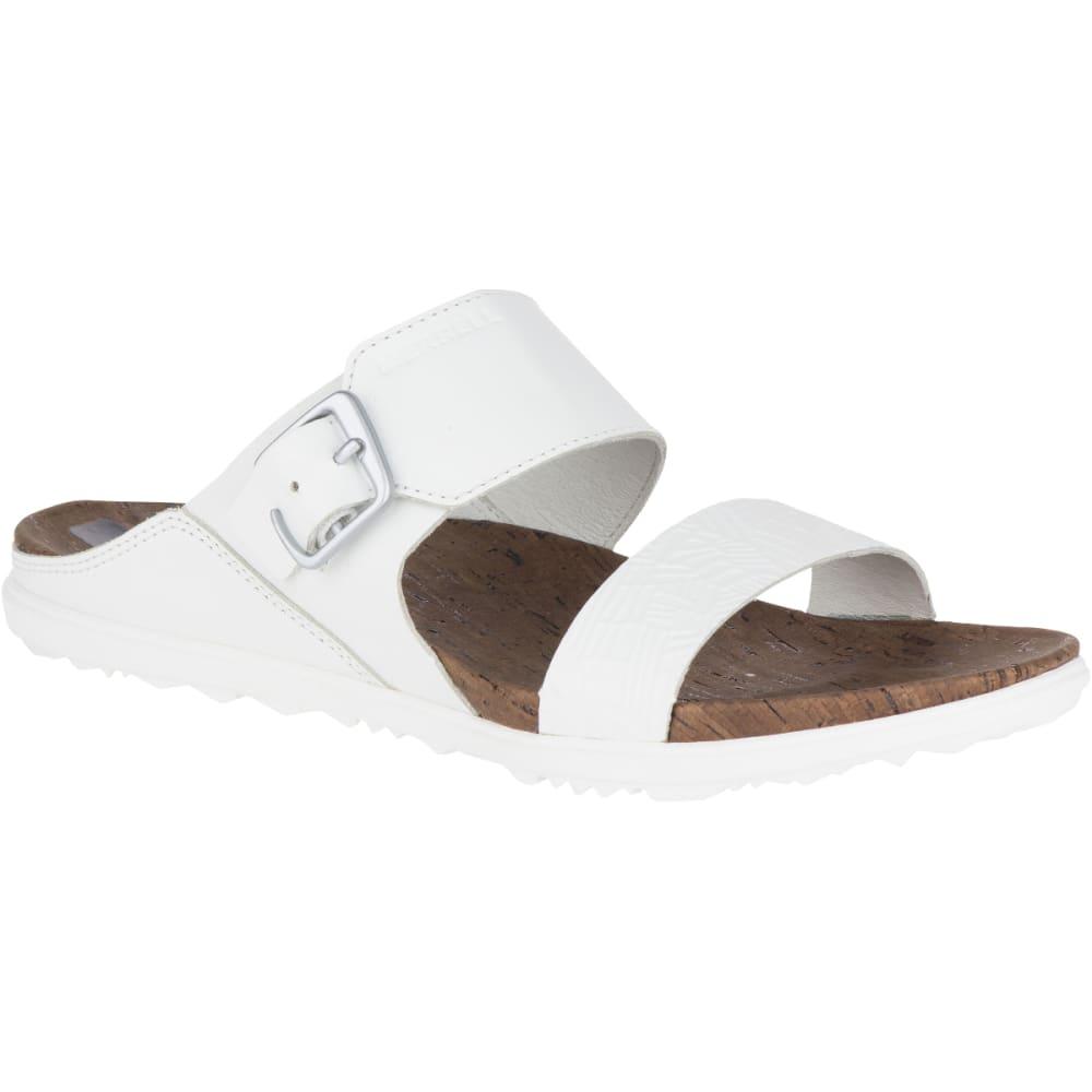 MERRELL Women's Around Town Buckle Slide Sandals, White - WHITE
