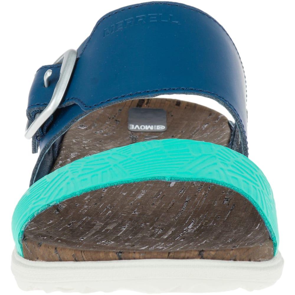 MERRELL Women's Around Town Buckle Slide Sandals, Poseidon - POSEIDON