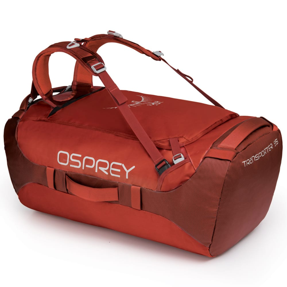 OSPREY Transporter 95 Duffel - RUFFIAN RED 1145