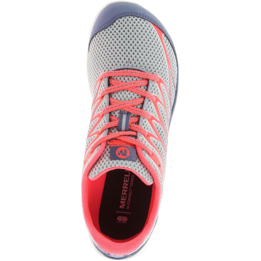 MERRELL Women's Bare Access Arc 4 Running Shoes, Sleet/ Vibrant  Coral - SLEET/VIBRANT CORAL