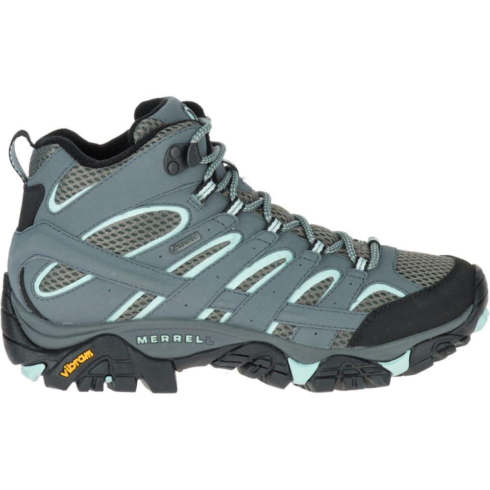 MERRELL Women's Moab 2 Mid GORE- TEX Waterproof Hiking Boots, Sedona Sage - SEDONA SAGE