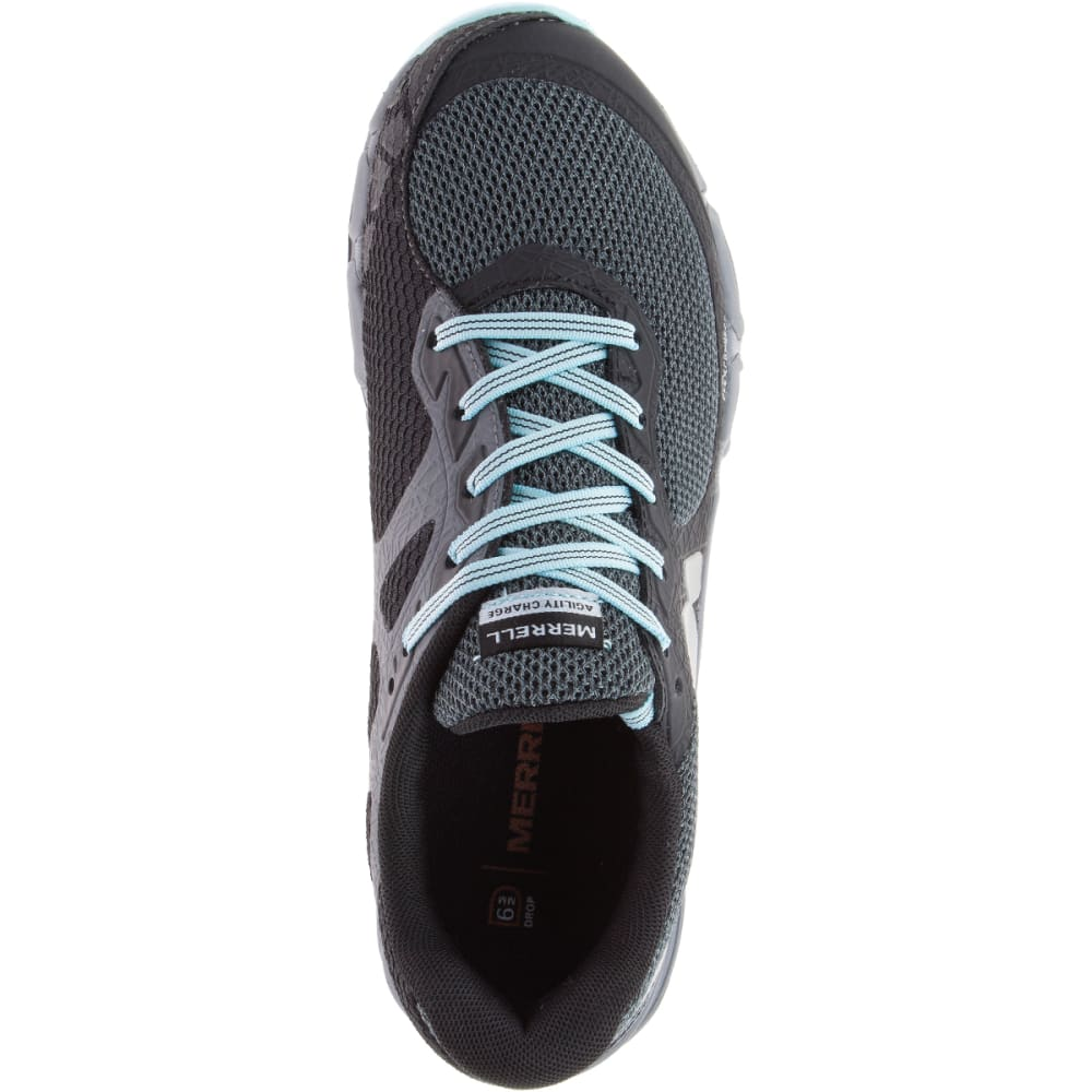 MERRELL Women's Agility Charge Flex Trail Running Shoes, Black - BLACK