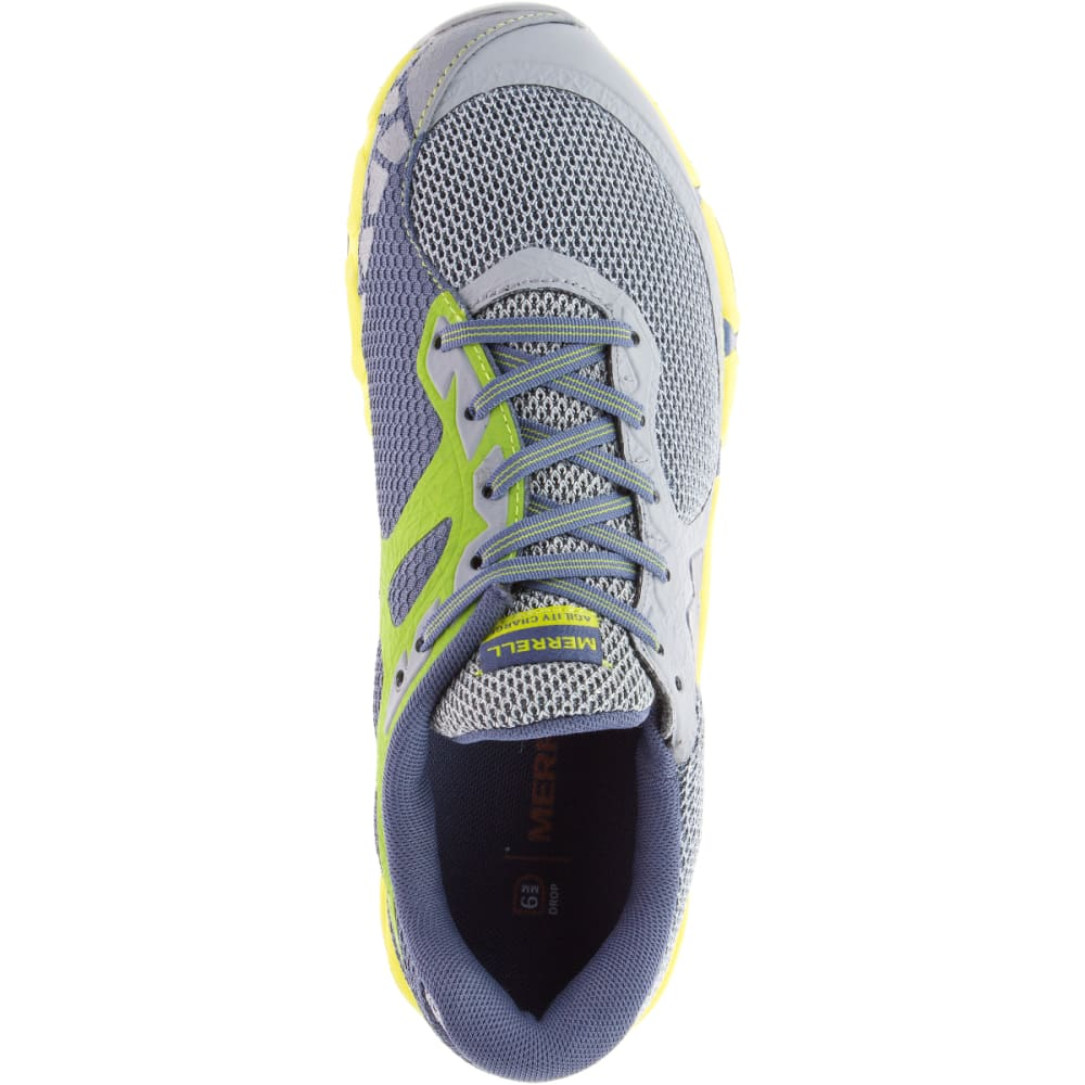 MERRELL Women's Agility Charge Flex Trail Running Shoes, Sleet - SLEET