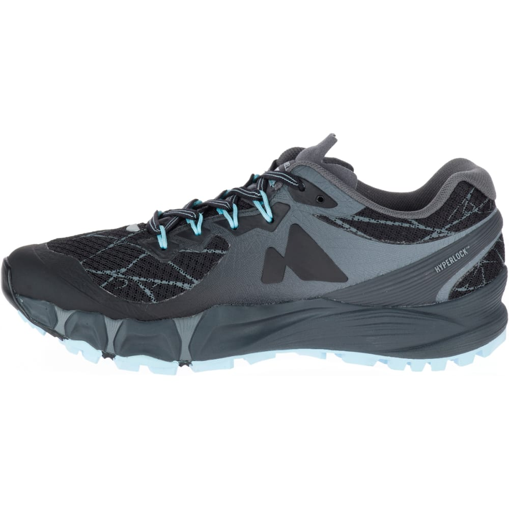 MERRELL Women's Agility Peak Flex Trail Running Shoes, Black - BLACK