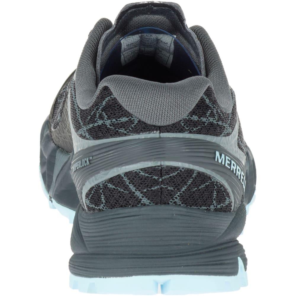 MERRELL Women's Agility Peak Flex Trail Running Shoes, Black - BLACK