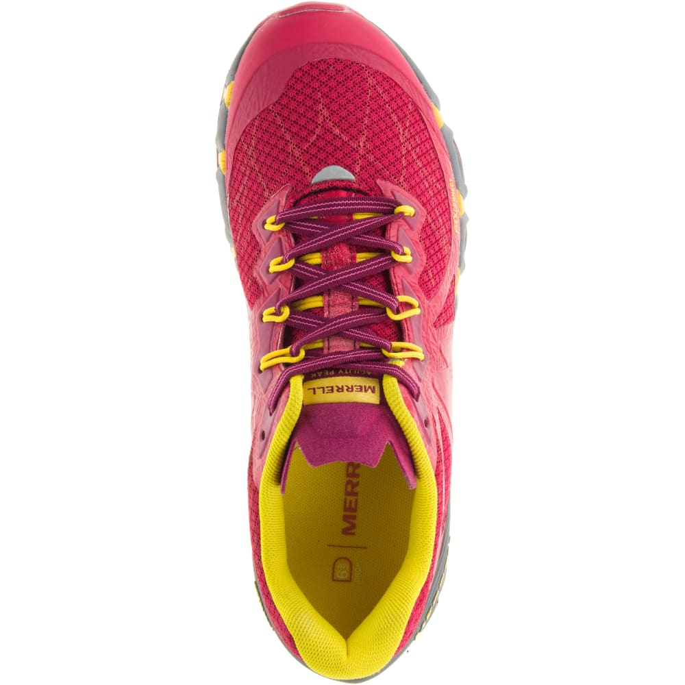 MERRELL Women's Agility Peak Flex Trail Running Shoes, Ski Patrol - SKI PATROL
