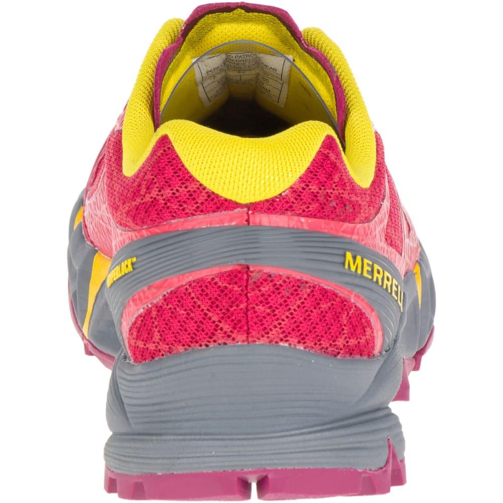 MERRELL Women's Agility Peak Flex Trail Running Shoes, Ski Patrol - SKI PATROL