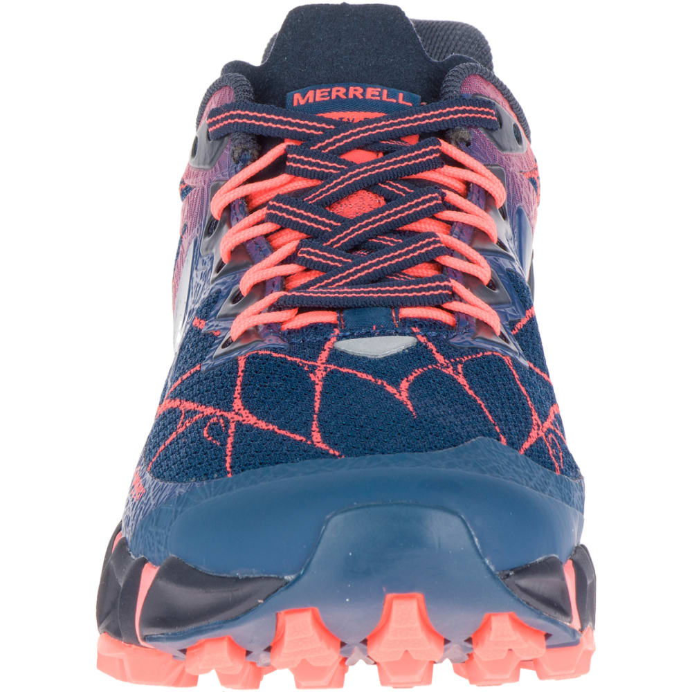 MERRELL Women's Agility Peak Flex Trail Running Shoes, Navy - NAVY