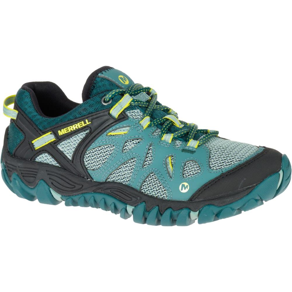 MERRELL Women's All Out Blaze Aero Sport Hiking Shoes, Sea Pine - SEA PINE
