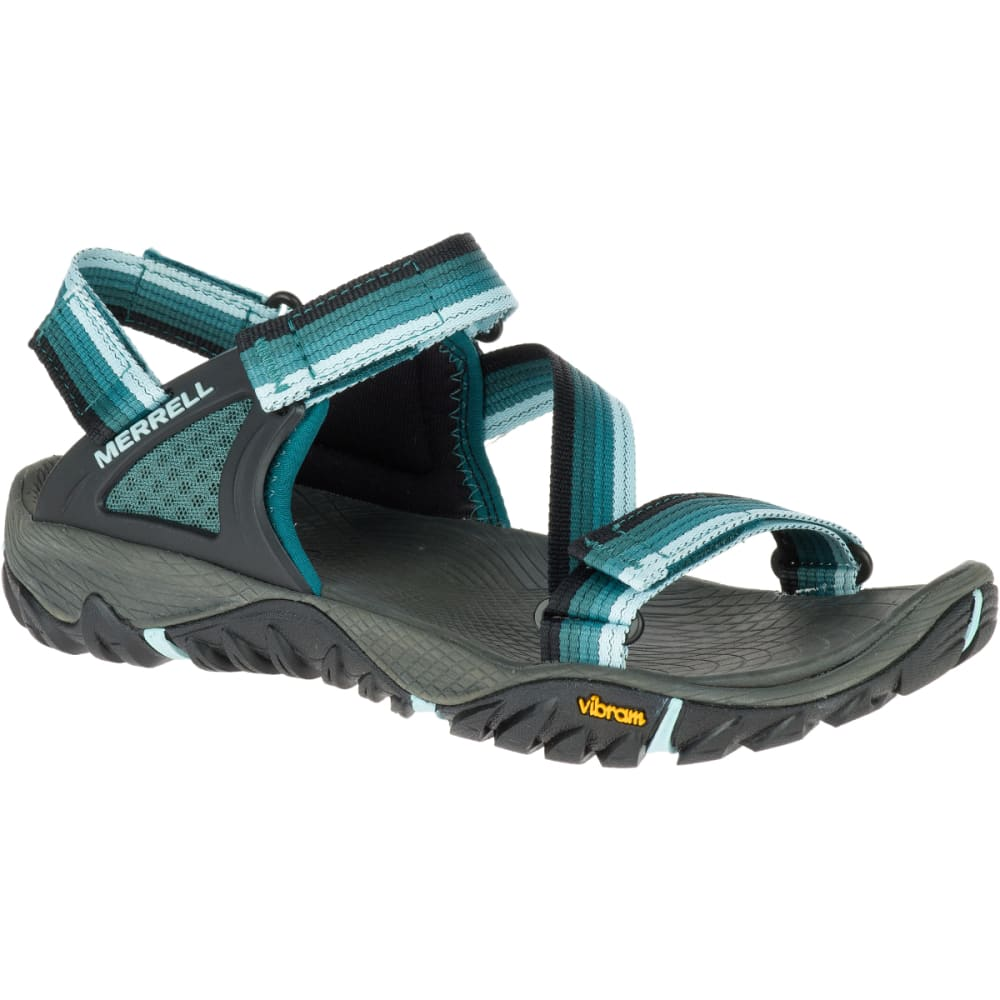 MERRELL Women's All Out Blaze Web Sandals, Sea Pine - SEA PINE