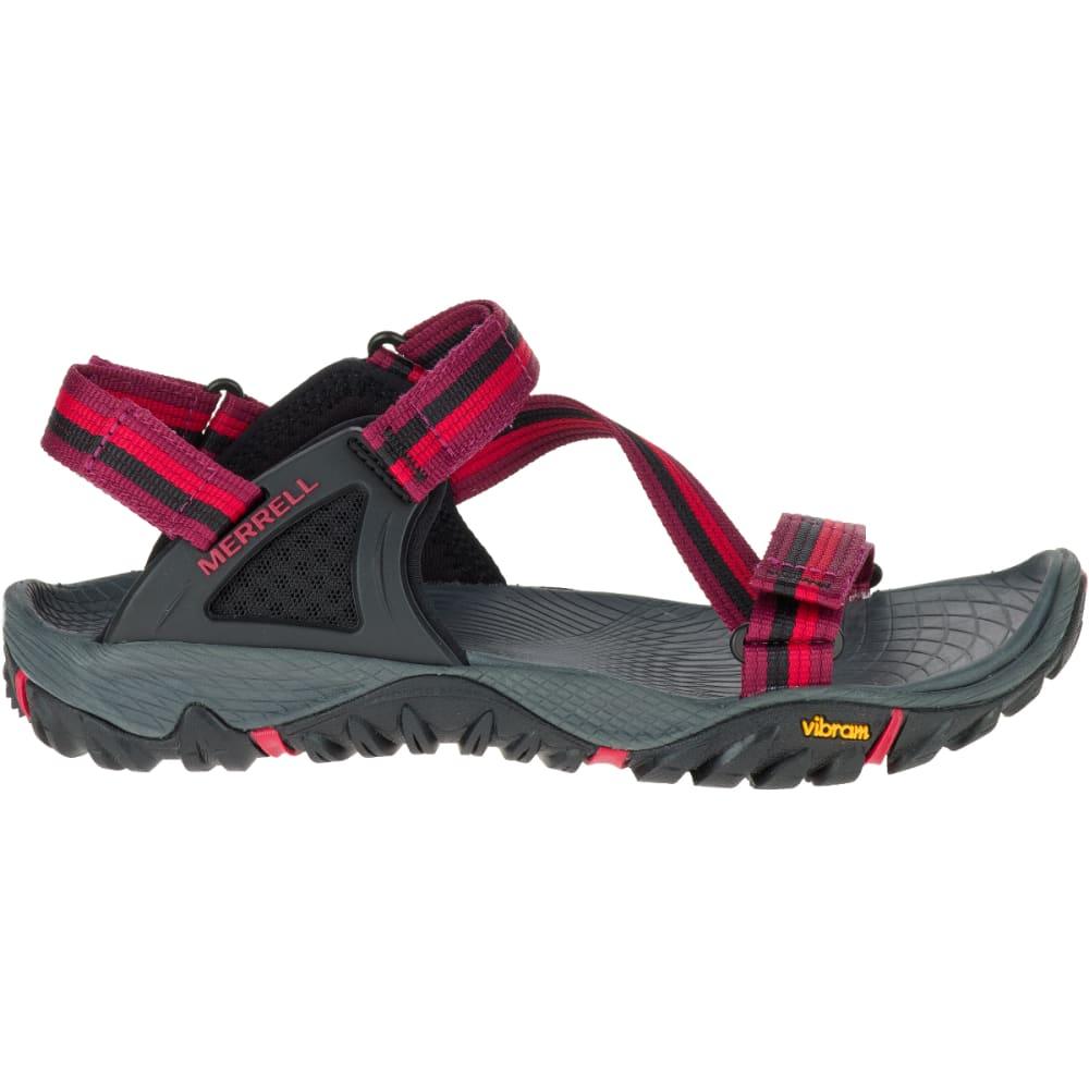 MERRELL Women's All Out Blaze Web Sandals, Beet Red - BEET RED