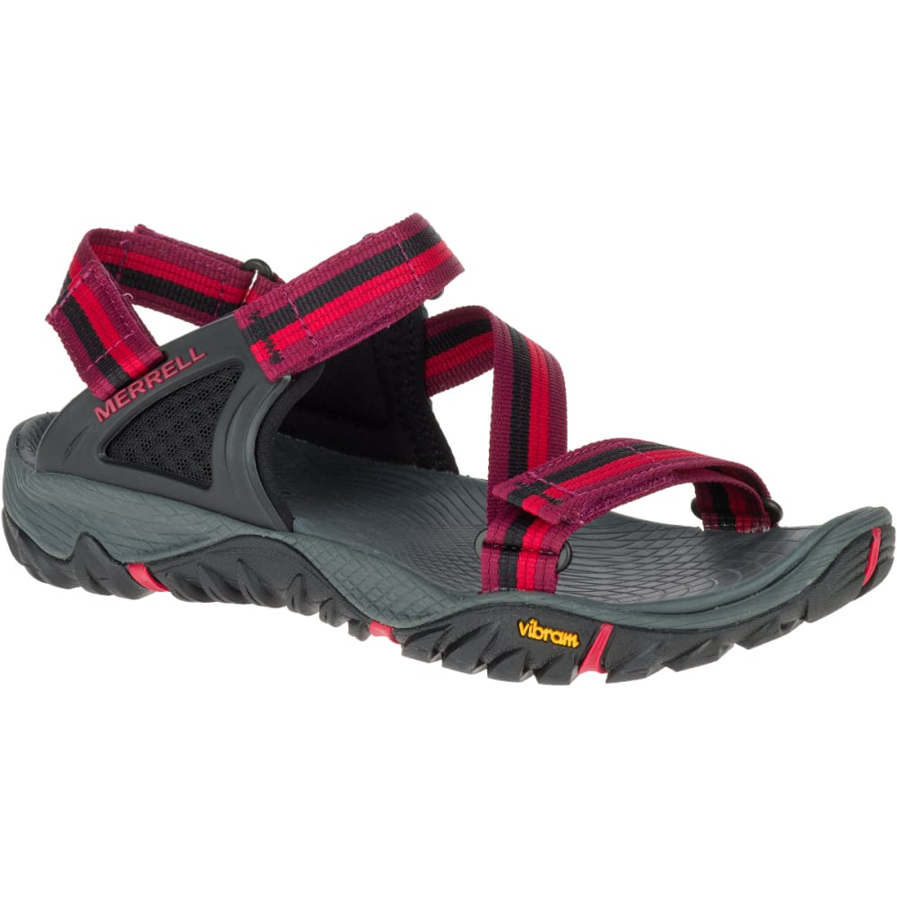 MERRELL Women's All Out Blaze Web Sandals, Beet Red - BEET RED