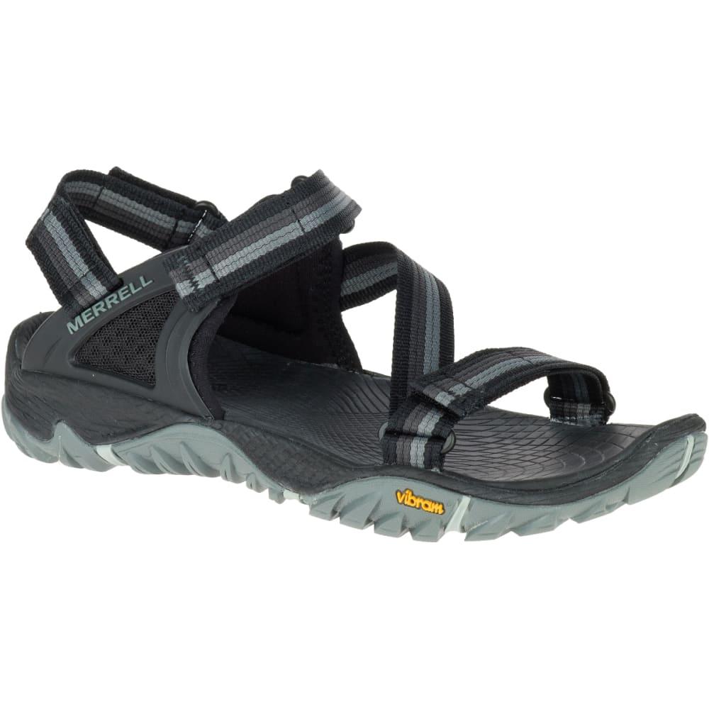 MERRELL Women's All Out Blaze Web Sandals, Black - BLACK