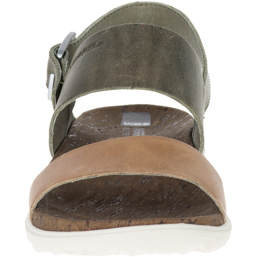 MERRELL Women's Around Town Backstrap Sandals, Vertiver - VERTIVER