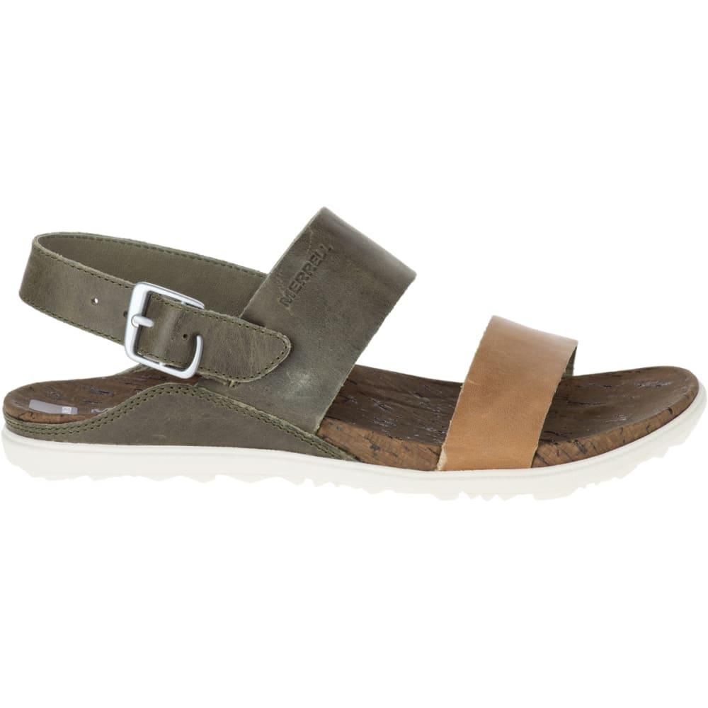 MERRELL Women's Around Town Backstrap Sandals, Vertiver - VERTIVER