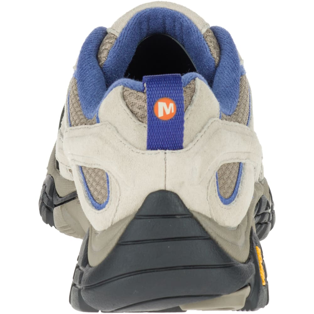 MERRELL Women's Moab 2 Ventilator Hiking Shoes, Aluminum/ Marlin Wide - ALUMINUM/MARLIN