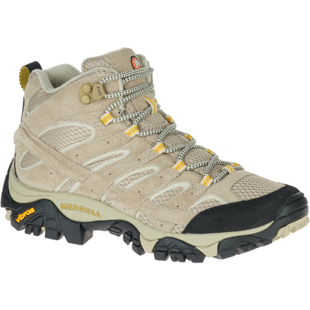 MERRELL Women's Moab 2 Ventilator Mid Hiking Boots, Taupe, Wide 5