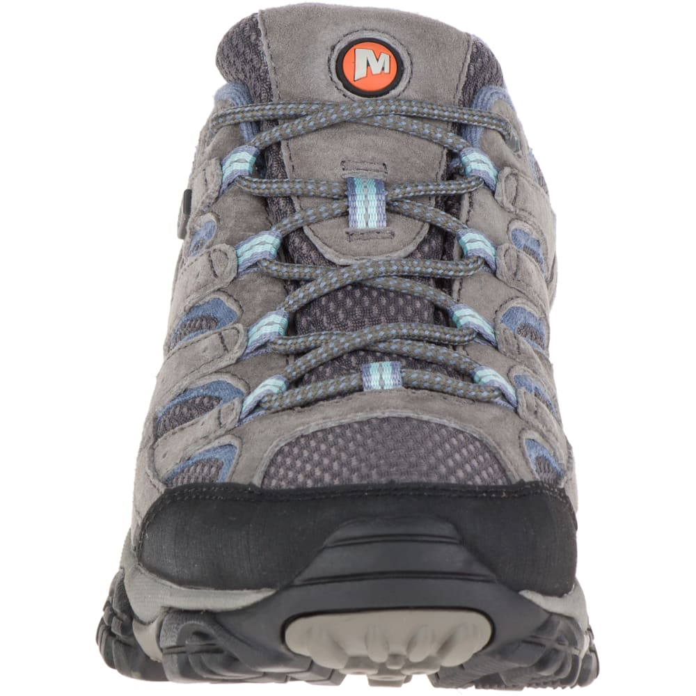 MERRELL Women's Moab 2 Waterproof Hiking Shoes, Granite, Wide - GRANITE