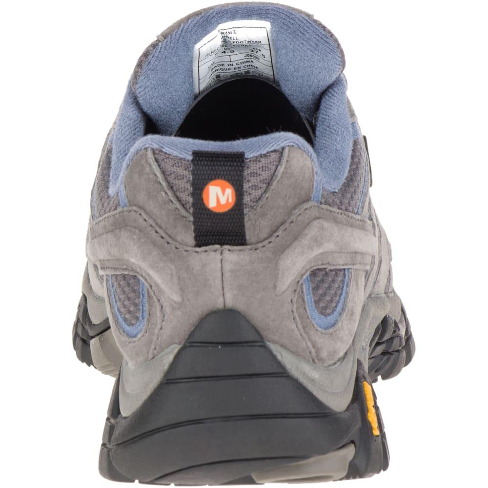 MERRELL Women's Moab 2 Waterproof Hiking Shoes, Granite, Wide - GRANITE