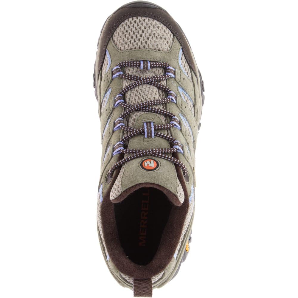 802f6a64f8 MERRELL Women's Moab 2 Waterproof Hiking Shoes, Dusty Olive, Wide
