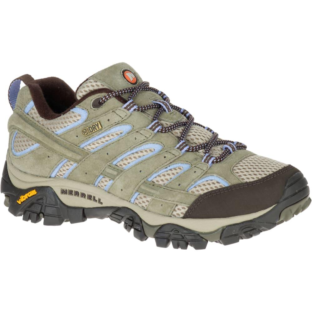 MERRELL Women's Moab 2 Waterproof Hiking Shoes, Dusty Olive, Wide 5