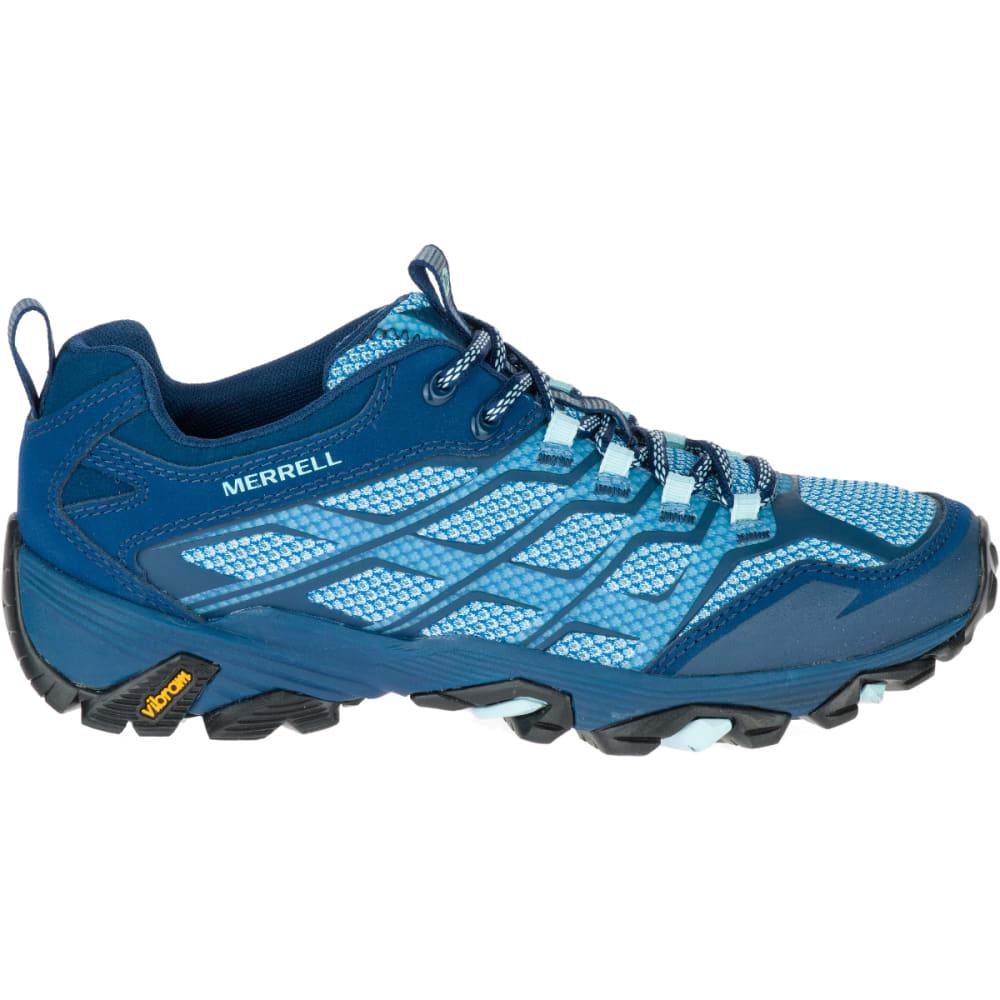MERRELL Women's Moab FST Hiking Boots, Poseidon - POSEIDON