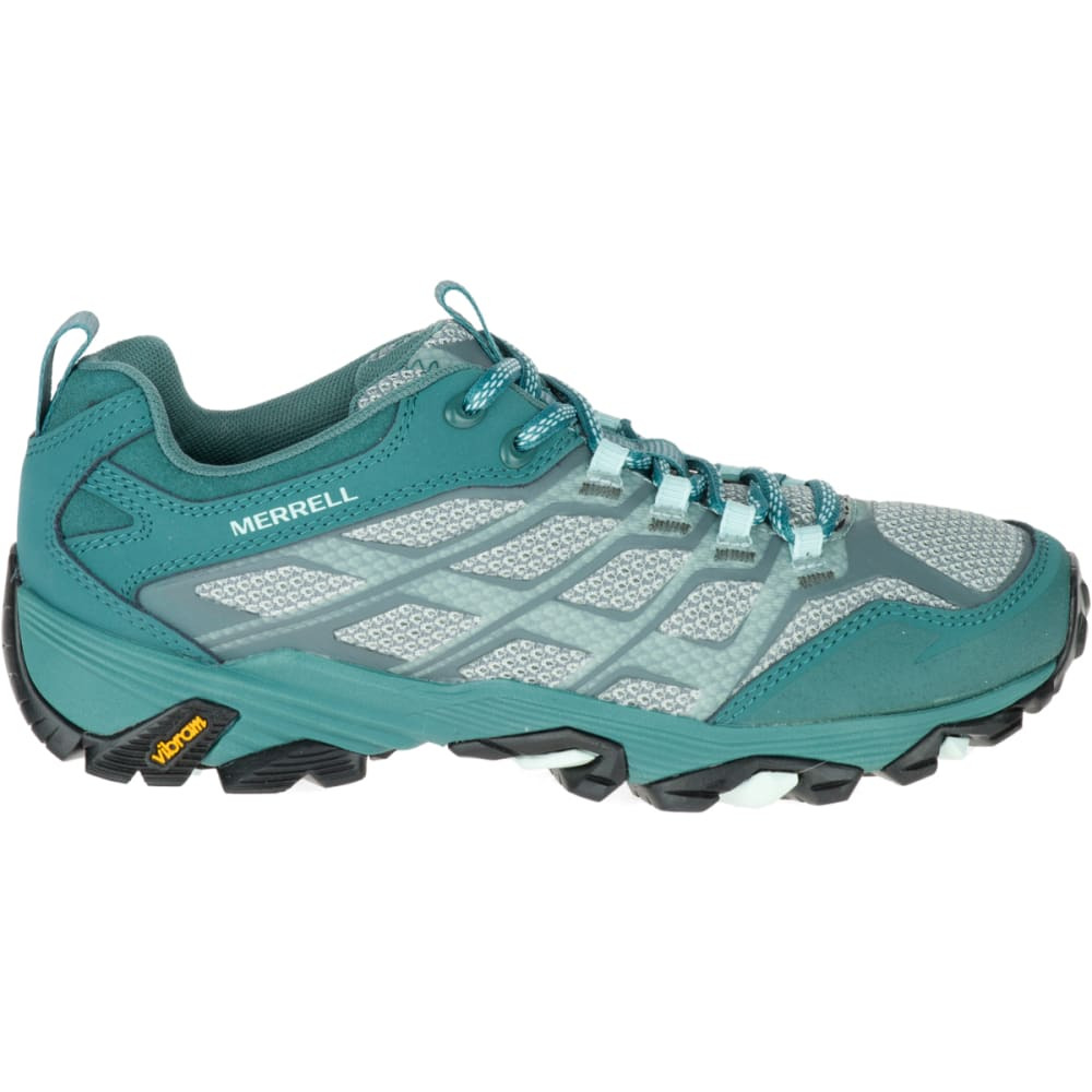 MERRELL Women's Moab FST Waterproof Hiking Boots, Sea Pine - SEA PINE